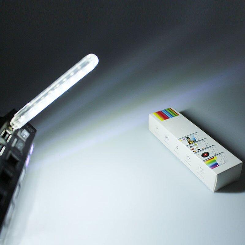 Mini Portable USB 8LED Light Lamp Bulbs Tubes Flashlight Nightlight Reading Camping Efficient Flexible For Mobile PC Laptop