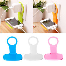 Portable Universal Wall Charger Hanger Mobile Phone Stand Holder Fixed Charging Cable Organizer for iPhone Samsung Xiaomi Mi 9(China)