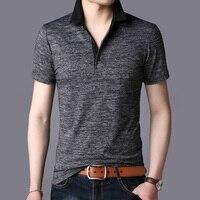 2019 новые летние модные бренды рубашек-Поло рубашка мужские, повседневные, пропускающие воздух Slim Fit для мужчин мужские поло короткий рукав с...