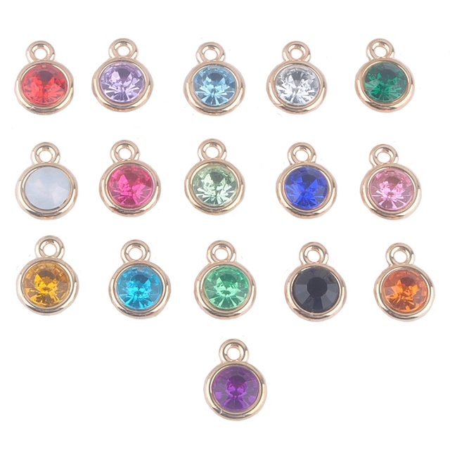Aliexpress.com : Buy 12pcs/lot mixed Birthstone charms ...