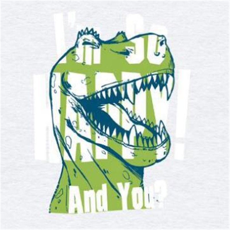 T shirt Women patch 175mm dinosaur logo iron on patches for clothing transfer printing top clothes for girls Diy stickers