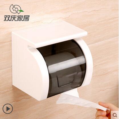 Shuangqing ткани Box присоске Бумага стойки Водонепроницаемый roll Бумага держатель