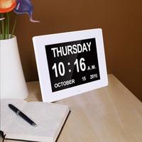 Gosear Portable Multifunction Digital HD LED LCD Screen Electronic Clock Calendar Alarm Clock Functions Wall Desk Clock