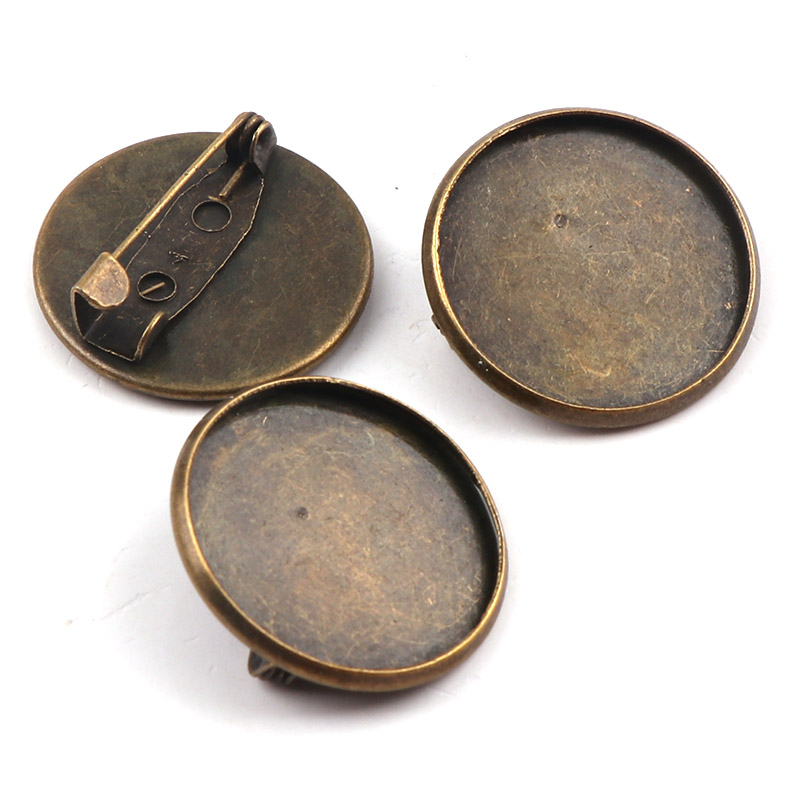 22mm Fit 20mm Round Brooch Base Cabochon Blanks Trays with Brooch Pins Cameo Cabochon Base Setting DIY Jewelry Findings22mm Fit 20mm Round Brooch Base Cabochon Blanks Trays with Brooch Pins Cameo Cabochon Base Setting DIY Jewelry Findings