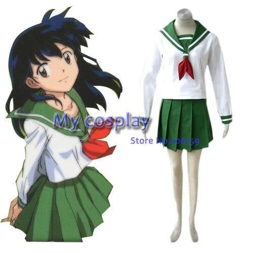 Anime Inuyasha Higurashi Kagome Cosplay Costumes Girls: Anime InuYasha Cosplay InuYasha Kagome Higurashi Women's