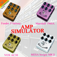 JOYO Guitar AMP Simulator Effects Pedal Distortion Pedal VOX Fander Marshall MESA Boogie Amplifier True Bypass Free shipping