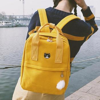 De pijo Casual mujeres mochilas adolescente Vintage estudiantes cremallera bolsas de viaje bolso al aire libre Mochila