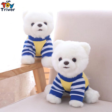 25cm Simulation Pomeranian Dressing Dog Toy Doll Toys Puppy Stuffed Animals Children Kids Baby Kawaii Gift Home Shop Decoration