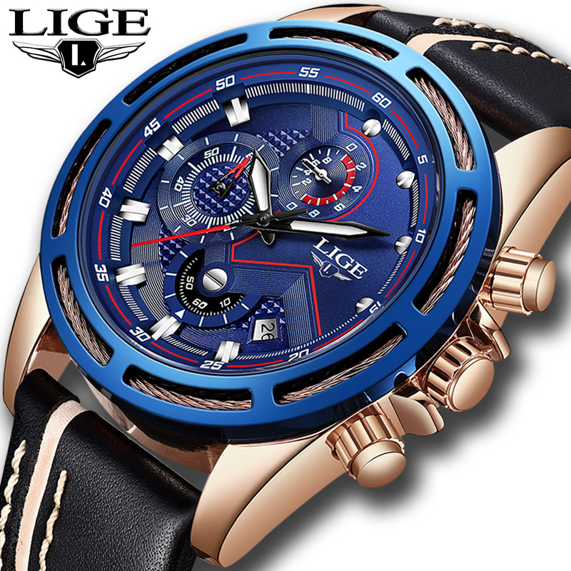 Relogio Masculino 2018 New LIGE Design Fashion Brand Watches Mens Leather Sport Date Chronograph Quartz Watch Male Gifts ClockRelogio Masculino 2018 New LIGE Design Fashion Brand Watches Mens Leather Sport Date Chronograph Quartz Watch Male Gifts Clock