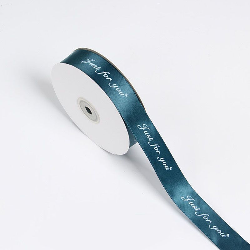 25MM 5M Just For You Printed Polyester Ribbon for Wedding Christmas Party Decorations DIY Bow Craft Ribbons Card Gifts Wrapping