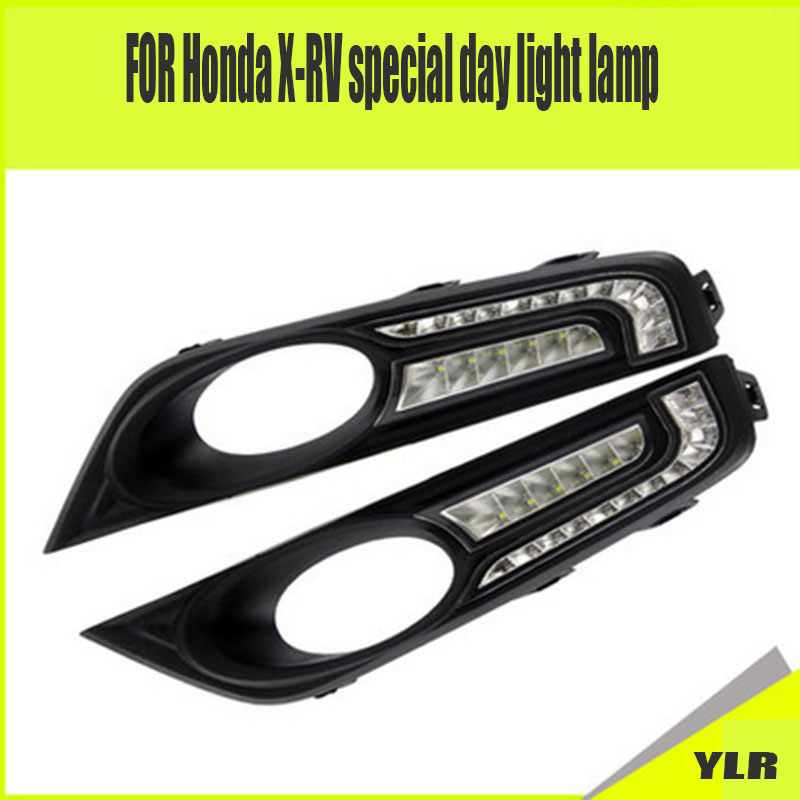 ФОТО In 2014 2015, the 2016 FOR Honda FOR XRV lamp white lamp fog lamp beads modified FOR OSRAM