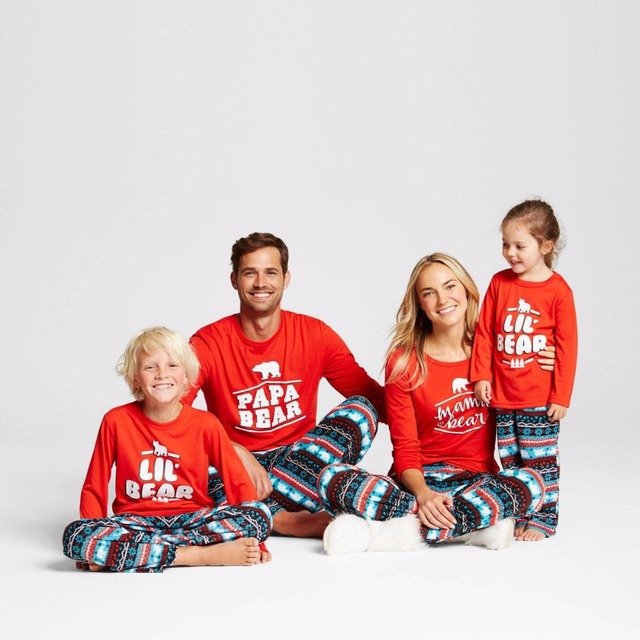 2018 family christmas pajamas family set father mother toddlers clothes christmas family pajamas sleepwear clothing qn9 - Family Pajamas Christmas