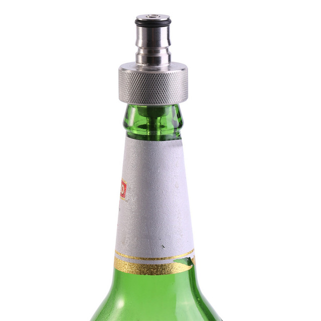 Roestvrij Staal Bier Snelle Soda Druk Fles Vullen Carbonatatie Cap Wijn Gebrouwen Bar Beer Gereedschap In Roestvrij Staal Bier Snelle Soda Druk Fles