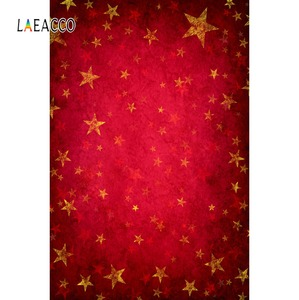 Image 1 - Laeacco Photography Backdrops Gold Star Red Gradient Solid Color Wall Party Pattern Baby Photo Background Photocall Photo Studio