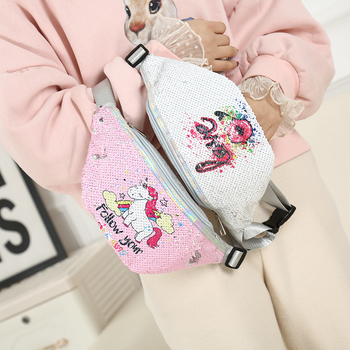 Sequins Unicorn Waist Bag