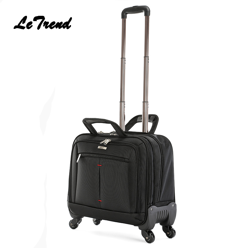 LeTrend Multifunction Men Rolling Luggage Spinner 18 Inch Business Computer Carry On Trolley Travel Bag Suitcase Wheels Trunk
