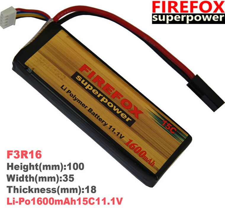 1pcs 100% Orginal FireFox 11.1V 1600mAh 15C Li Po AEG Airsoft Battery F3R16 Drop shipping аккумулятор li po 11 1 вольт firefox в туле