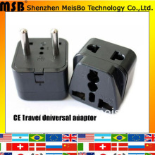 Worlddwide travel 10A 250V ABS material philippines canada uk aus US to eu plug adaptor 500pcs/lot free shipping by Fedex(China)