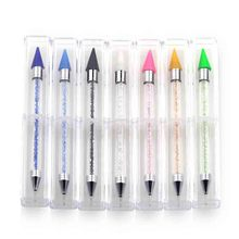 Nail Dotting Pen Dual-ended Crystal Beads Handle Rhinestone Studs Picker Wax Pencil Manicure Art Tool