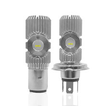 Motorcycle Headlight H4 LED H6 BA20D Fog Lamp Bulb Lights For Motorbike Moto Accessories Universal Hi Lo Scooter ATV