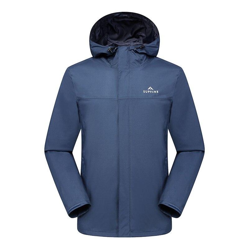 Supfire veste de randonnée hommes chasse cyclisme coupe-vent mâle pêche vêtements tactiques séchage rapide imperméable sport manteau C031 - 5