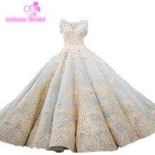 Vestido De Noiva Luxe hoogwaardige Kralen Vintage Baljurk Trouwjurken 2018 Bruidsjurken Bruid Jurk Brautkleid Mint blauw
