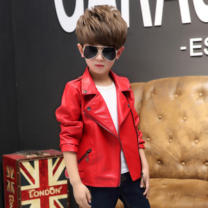 Image 3 - Brand Fashion Child Coat Waterproof Baby Girls Boys Leather Jackets Children Outfits For Age 3 14 Years Old