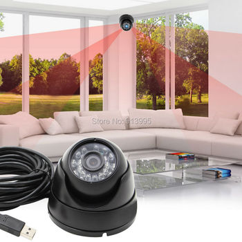 Waterproof 1.3 Megapixel HD Black MJPEG YUY2 CMOS Low Illumination Low Light 0.01lux Dome Night Vision IR Webcam for home use
