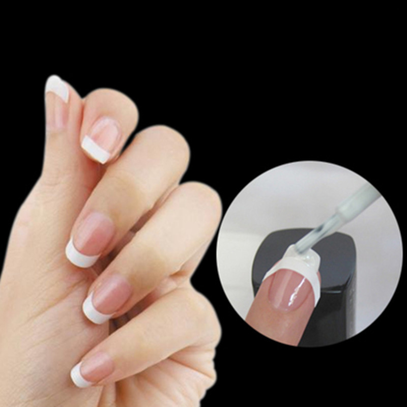 48 Sticker/lot DIY French Manicure Nail Art Decorations Round Form ...