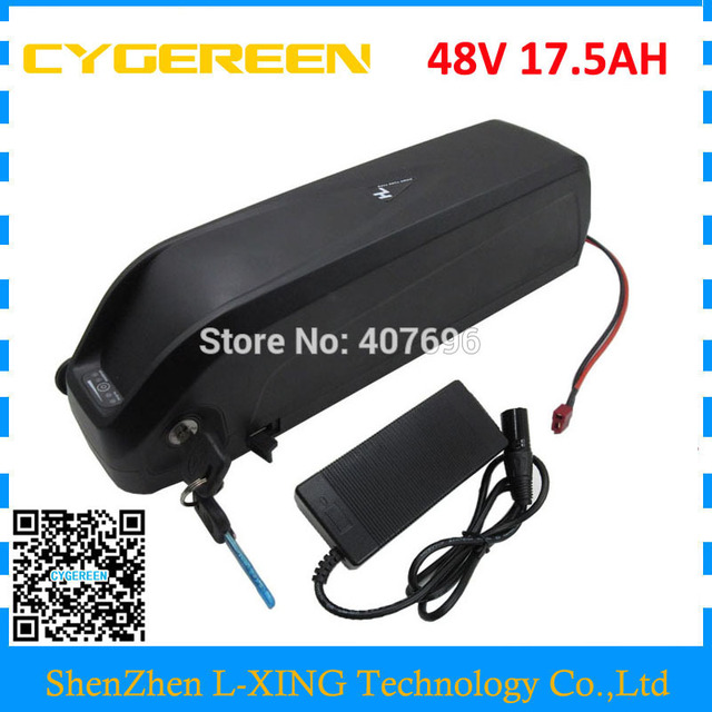 Down tube Hailong 48V 17.5Ah battery 1000W 48V 18AH lithium battery with USB Port Use For Samsung 3500mah cells US EU Free Tax