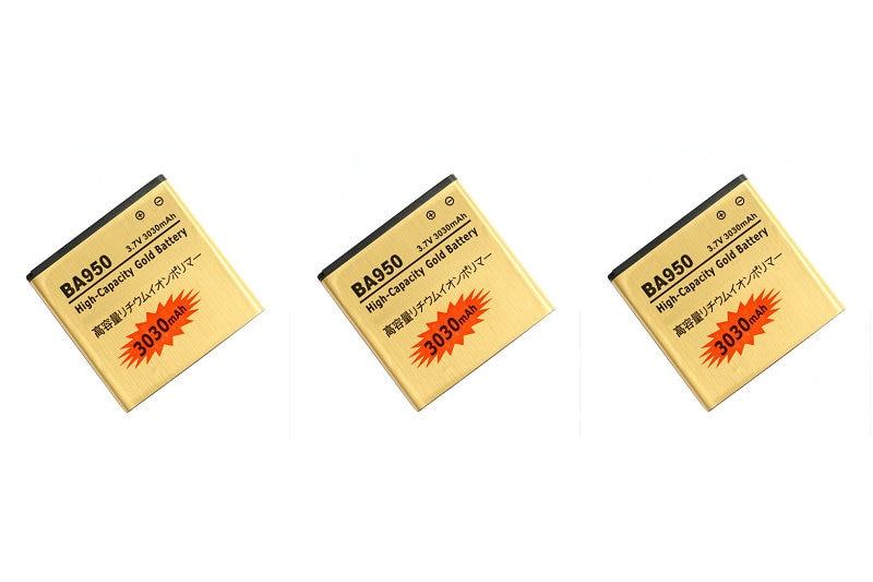 Seasonye 3pcs/lot 3030mAh BA950 Gold Replacement Battery For ZR M36h SOL22 C5502 C5503 BA950 SO-04E AB-0300 + Tracking Code