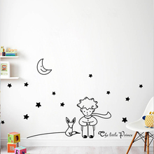 Popular Book Fairy Tale The Little Prince Fox Moon Star Wall Sticker For Kids Room Baby Birthday Gift Nursery Vinyl Mural Decals