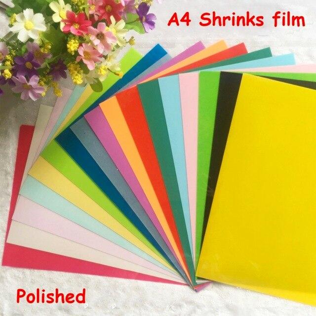 5pcs/lot DIY Magic Polished Shrink Plastic Sheet Clear Film Multi ...