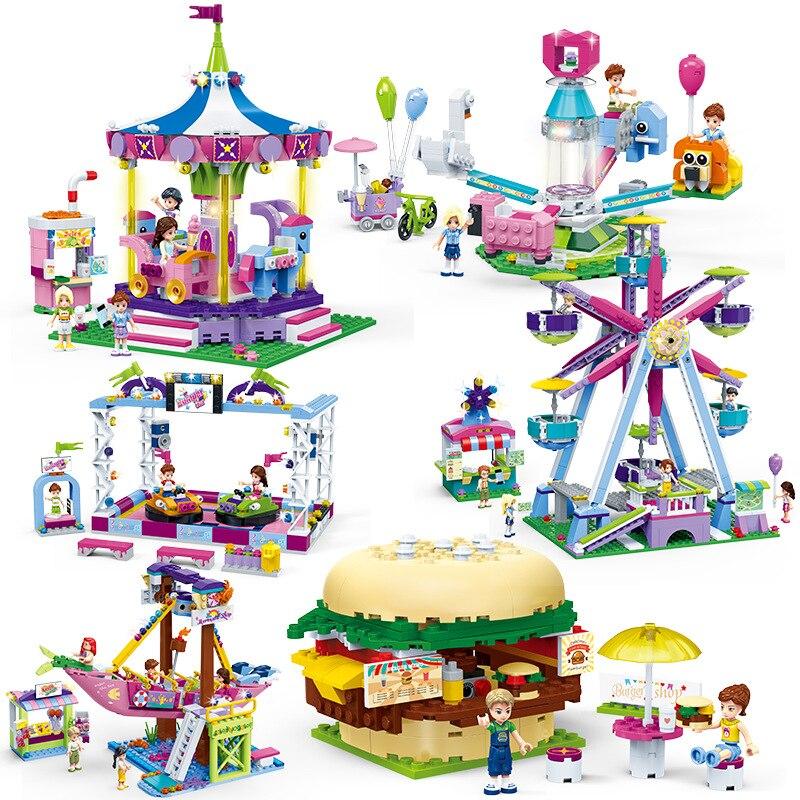 NUOVI Amici Serie Legoingly Parco di Divertimenti Ferris Wheel Modello di Costruzione di Blocchi di Mattoni Playgame Giocattoli Per I Bambini Delle Ragazze Toy RegaliNUOVI Amici Serie Legoingly Parco di Divertimenti Ferris Wheel Modello di Costruzione di Blocchi di Mattoni Playgame Giocattoli Per I Bambini Delle Ragazze Toy Regali