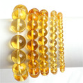 Crystal Citrine Beads Bracelets Elastic Stretch  Fashion Jewelry  For Women Gift Christmas XMAS Giving  Present