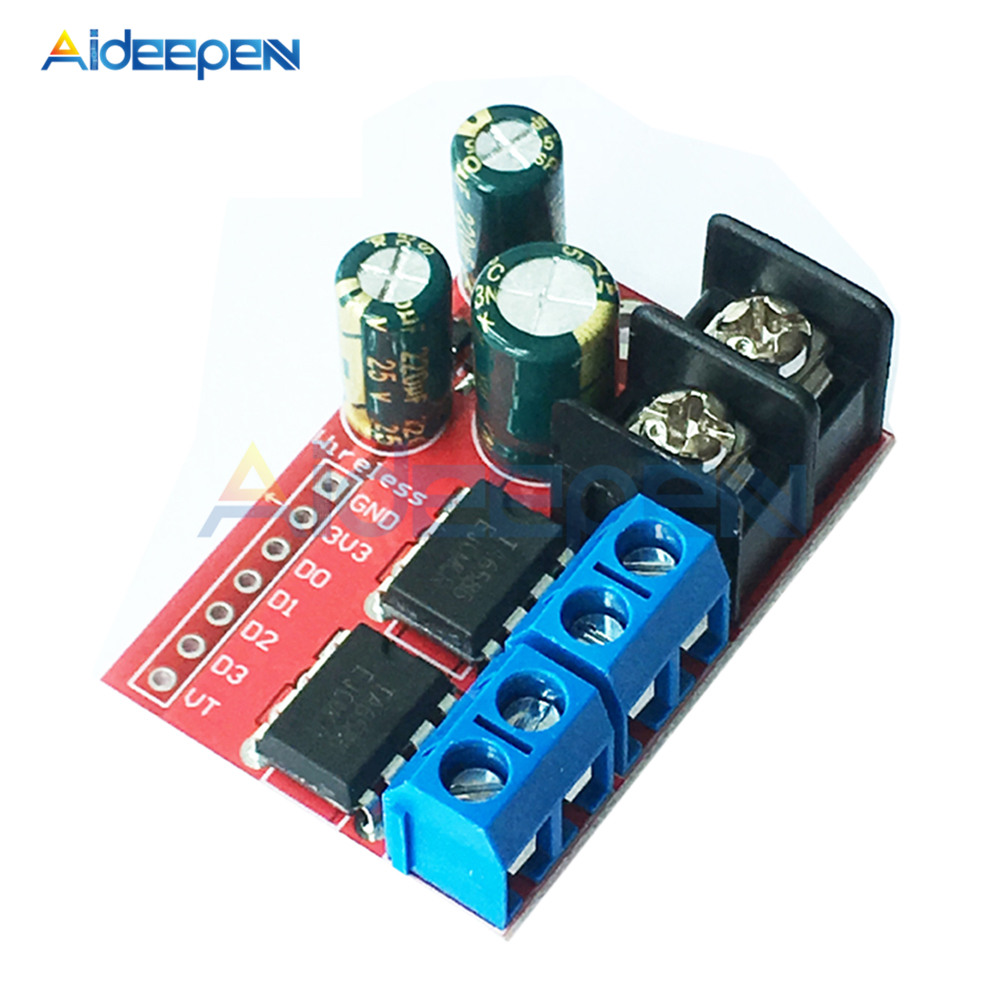 New 5A Dual DC Motor Drive Module Remote Control Voltage 3V 14V Reverse PWM Speed Regulation Double H Bridge Super L298N 5AD in Motor Controller from Home Improvement