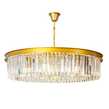 Modern crystal round chandelier living room dining room chandelier round luxury bedroom lamp retro bar cafe hotel light post modern crystal chandelier designer stainless steel hotel sample room metal light luxury bedroom dining room lamps