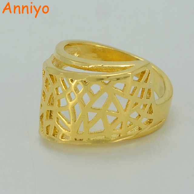 Anniyo Gold Color Ring for WomenGirls Ethiopian Wedding Jewelry