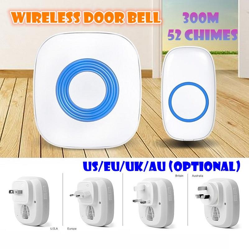 Wireless door bell 300M Effective IP44 Waterproof standard doorbell Prevent Signal interference quhwa qh 831a wireless door bell