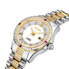 2017 NAKZEN Brand Mechanical Watches Women Automatic Calendar Watch Steel 30 m Waterproof Sapphire Crystal Mirror Women Watches