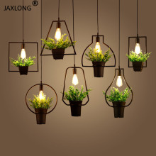 Modern LED Pendant Light Flower Pot Plant Decor Lighting Light Fixture Loft lustre Hanging Lamp Restaurant Pendant Lamp hanglamp modern led lustre pendant light white fixture suspension luminaire disign for restaurant with lampshade wine glass hanging lamp