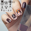 NICOLE DIARY Nail Art Stamping Image Plates Line Patterns Stainless Steel High Quality DIY Stamping Template