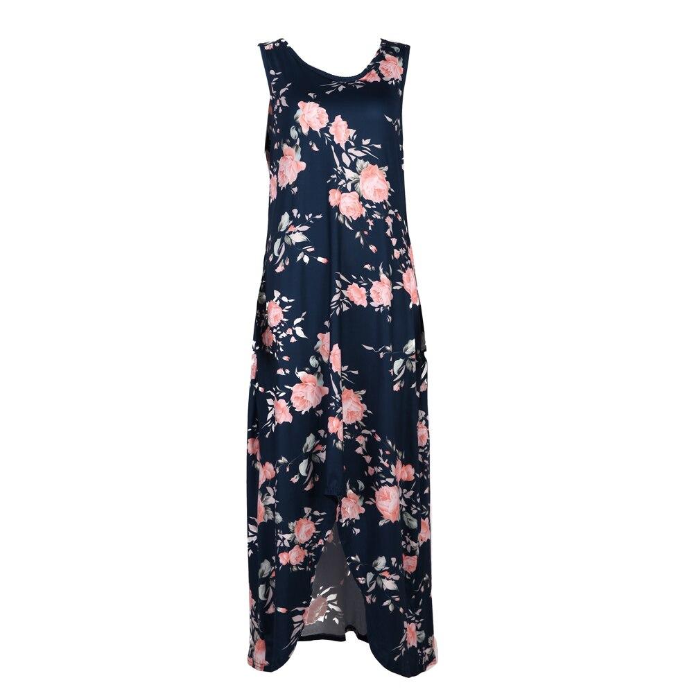 font b Women b font Summer Maxi font b Dress b font Boho Style Sleeveless
