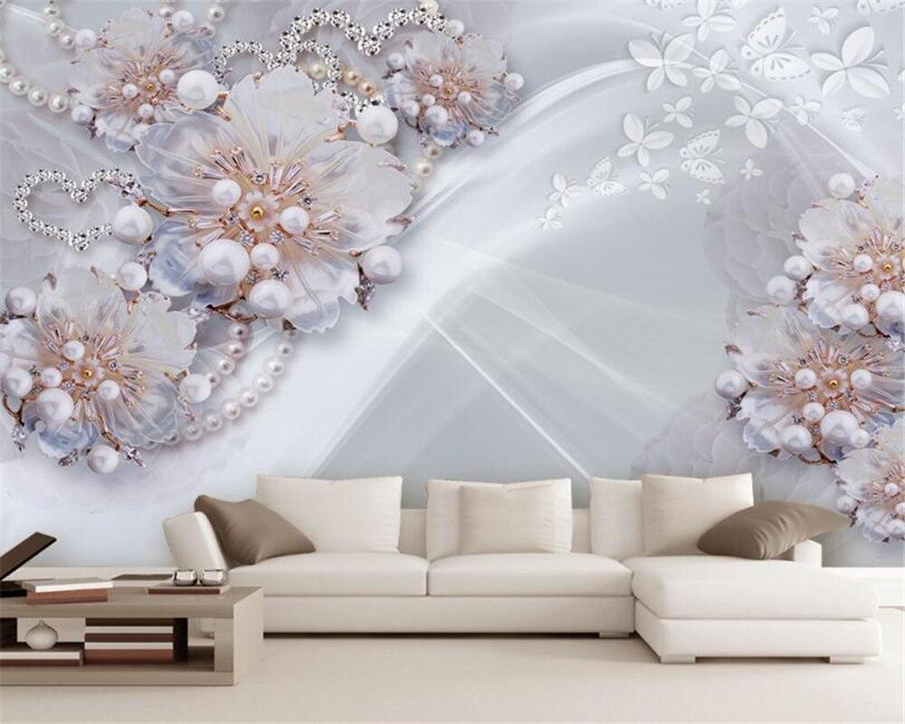Beibehang behang voor muren d hoogwaardige fijne sieraden