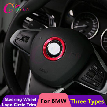 1Piece Stainless Steel Steering Wheel Decoration Circle Cover Sticker For BMW X1 E60 E36 E39 E46 E30 E60 E90 E92 F10 F30 F25 F48 image