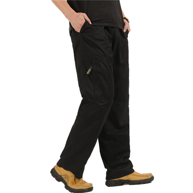 Men's Cargo Pants Casual Loose Military Tactical Pants Multi-Pocket Overall Sporting Baggy Male Long Trousers Plus Size 5XL 6XL 3