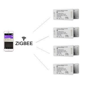 Image 3 - LED تحكم RGB + CCT RGBW WWCW LED قطاع تحكم DC12/24 V خطي ضوء باهتة التطبيق LED تحكم