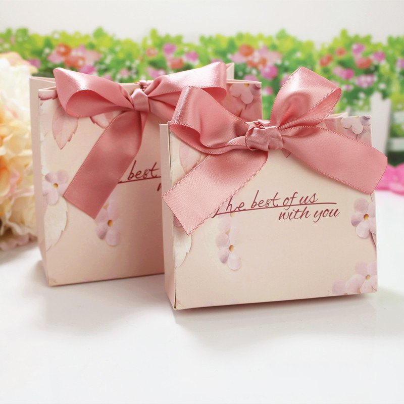 Wedding Paper Gift Bags: 2018 New Printed Paper Gift Bag With Ribbon Wedding Favor