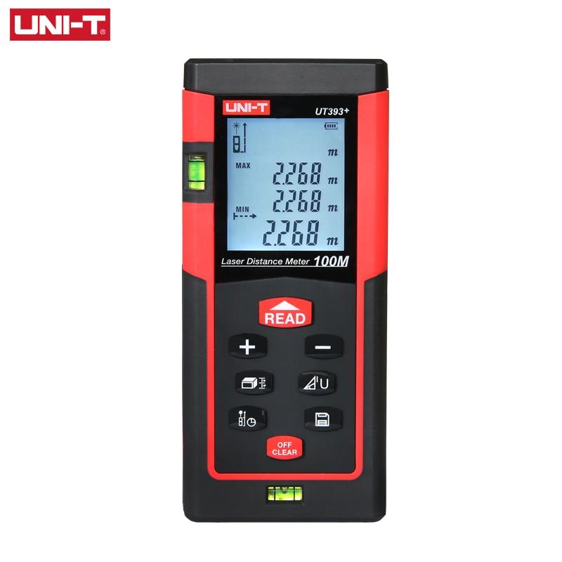 UNI T UT393 100M High Precision Laser Rangefinder Multi function Distance Measurement Instrument Horizontal Bubble Data