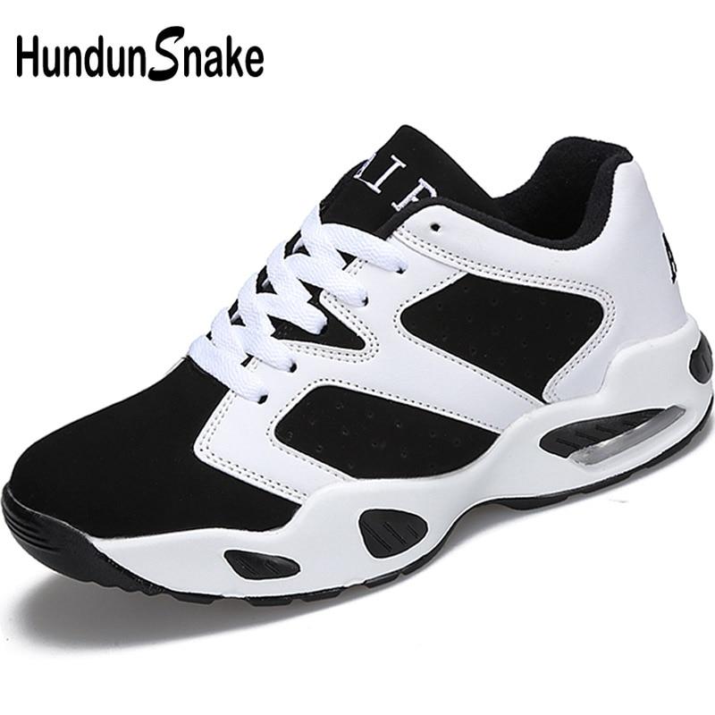 Hundunsnake Air Cushion Running Shoes For Women White Woman Sport Shoes Men Leather Women's Sneakers Ladies Sports Shoe Gym T119